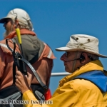 John Calambokidis and Al Goudy in the tagging RHIB