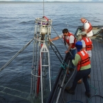 Pacific Storm launching oceanographic equipment