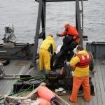 Pacific Storm picking plankton net