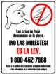 seal pup warning in spanish