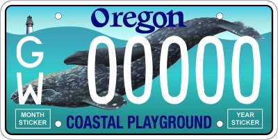 Whale License Plate