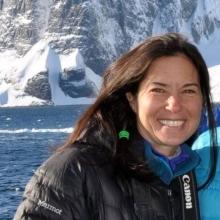 Renee Albertson in Antarctica